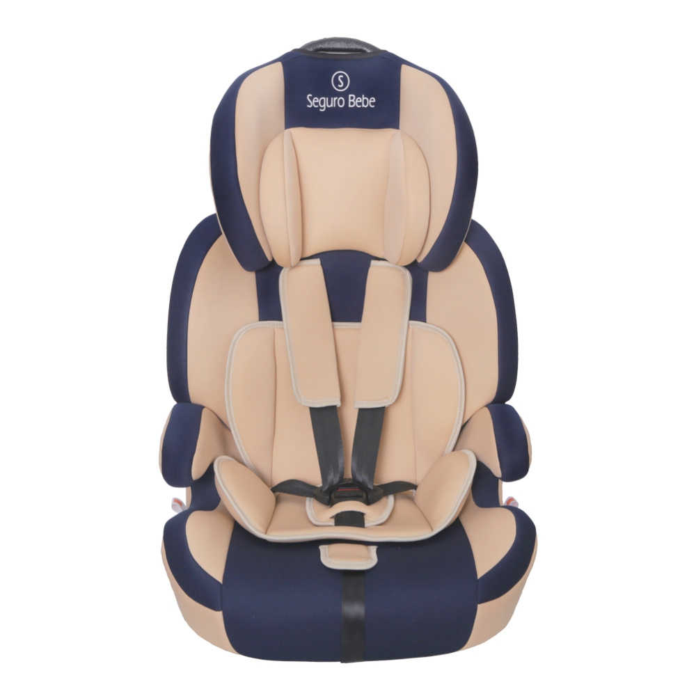 Seguro Bebe Bravo ISOFIX Group 1 2 3 Child Car Seat – Beige On Navy
