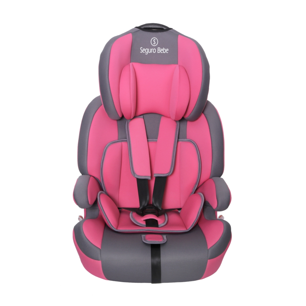 Seguro Bebe Bravo ISOFIX Group 1 2 3 Child Car Seat – Pink On Grey