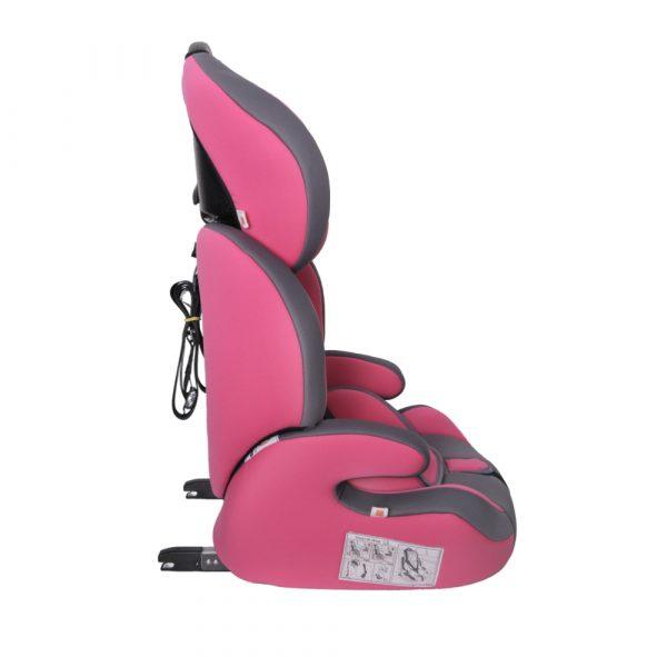 Seguro Bebe Bravo Isofix Pink on Grey 3