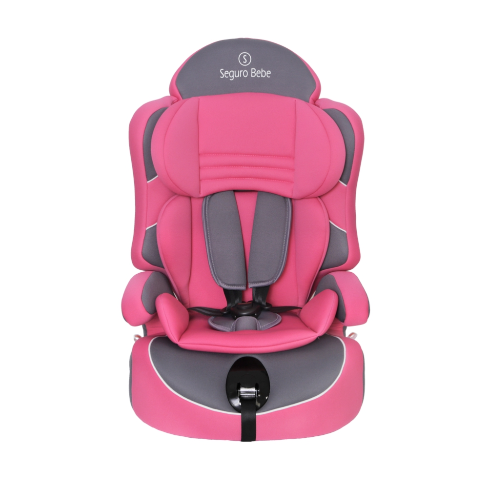 Seguro Bebe Lima Group 1 2 3 Child Car Seat – Pink On Grey