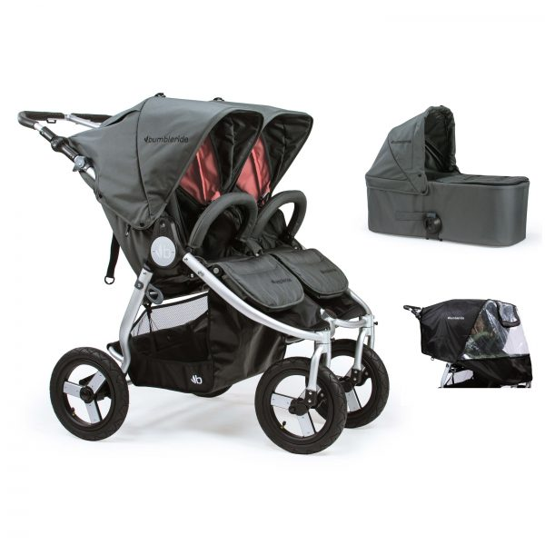 Bumbleride Indie Twin 2 in 1 Dawn Grey Coral (Stroller Carrycot Raincover)