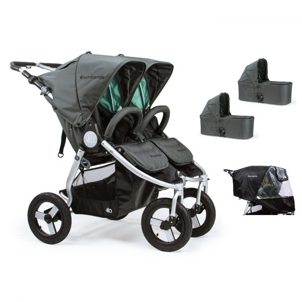 Bumbleride Indie Twin 2 in 1 Plus Dawn Grey Mint (Stroller Carrycots Raincover)