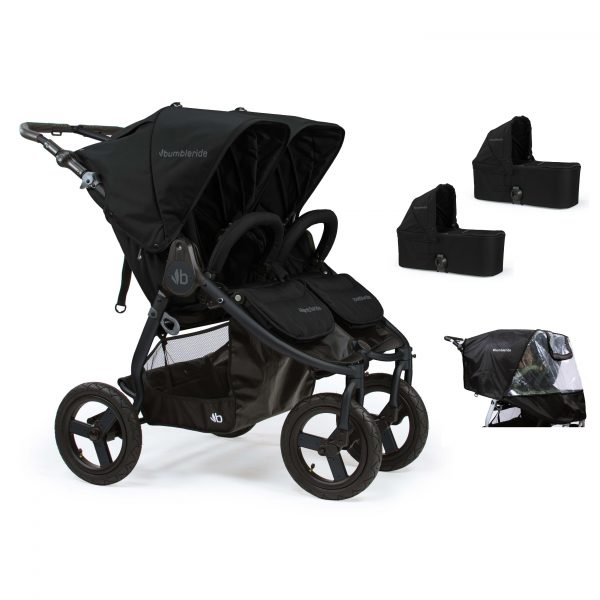 Bumbleride Indie Twin 2 in 1 Plus Matte Black (Stroller Carrycots Raincover)