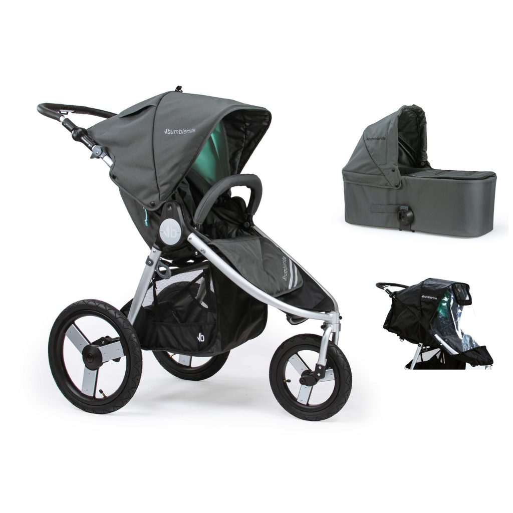Bumbleride Speed 2 in 1 Dawn Grey Mint (Stroller Carrycot Raincover)