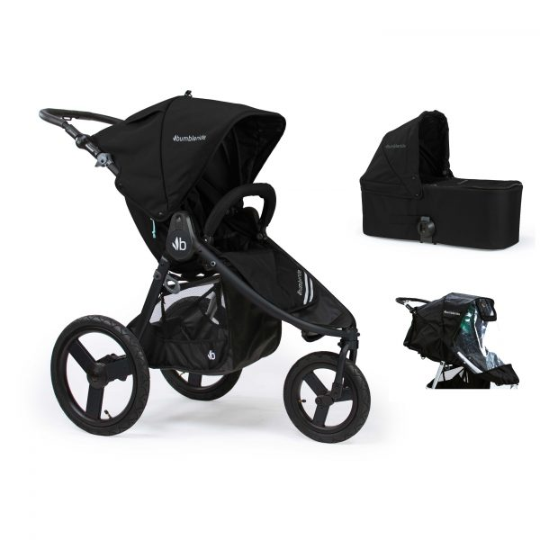 Bumbleride Speed 2 in 1 Matte Black (Stroller Carrycot Raincover)