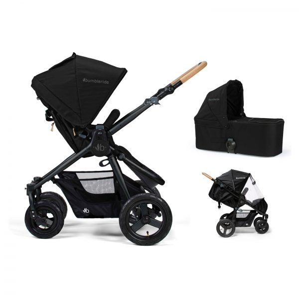 Bumbleride Era 2 in 1 Matte Black (Stroller Carrycot Raincover)
